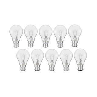 10er Set Luminizer 3025 Classic Eco Halogen A55 B22 18W=21W dimmbar warmweiss