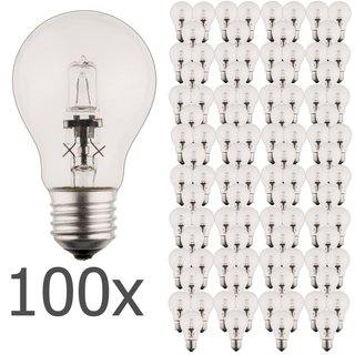100er Set Luminizer 3000 Classic Eco Halogen A55 E27 18W=21W dimmbar warmweiss